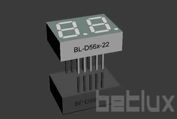 7 segment LED | 2 digit | 0.56 inch